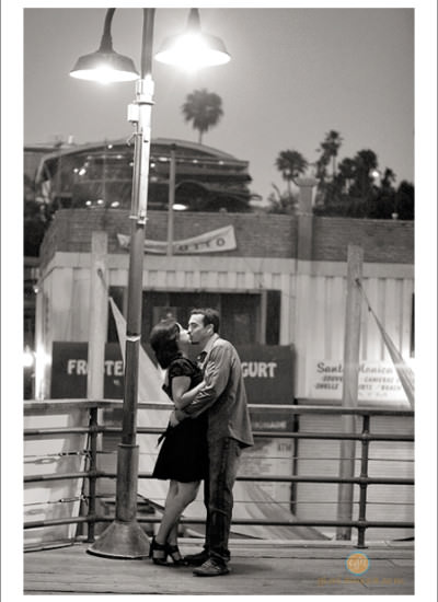 UCLA and Santa Monica Pier Engagement session