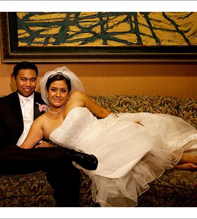 Wedding of Ian and Claudia in Long Beach Petroleum Club