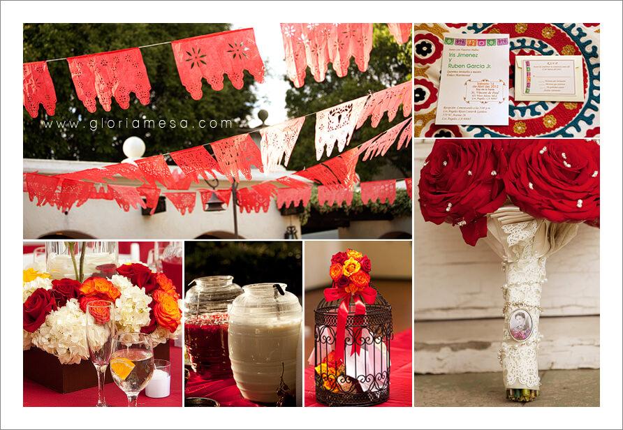 Papel Picado, aguas frescas, weddings, bodas,