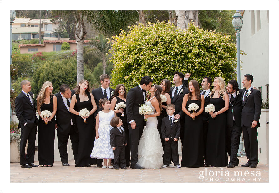 Bridal Party, Bride and Groom, Santa MOnica