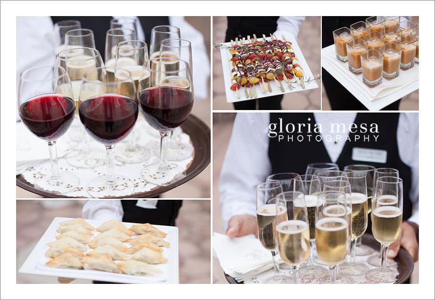 Bel Air bay Club, weddings, food, Wine,
