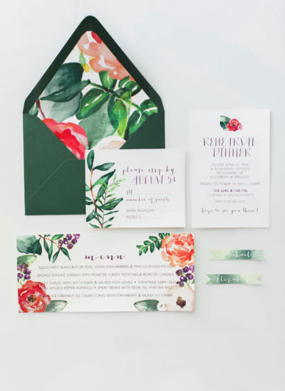 Wedding Invitation by The Paper Bakery