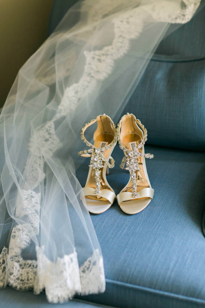 Wedding Veil and Shoes using natural lighting