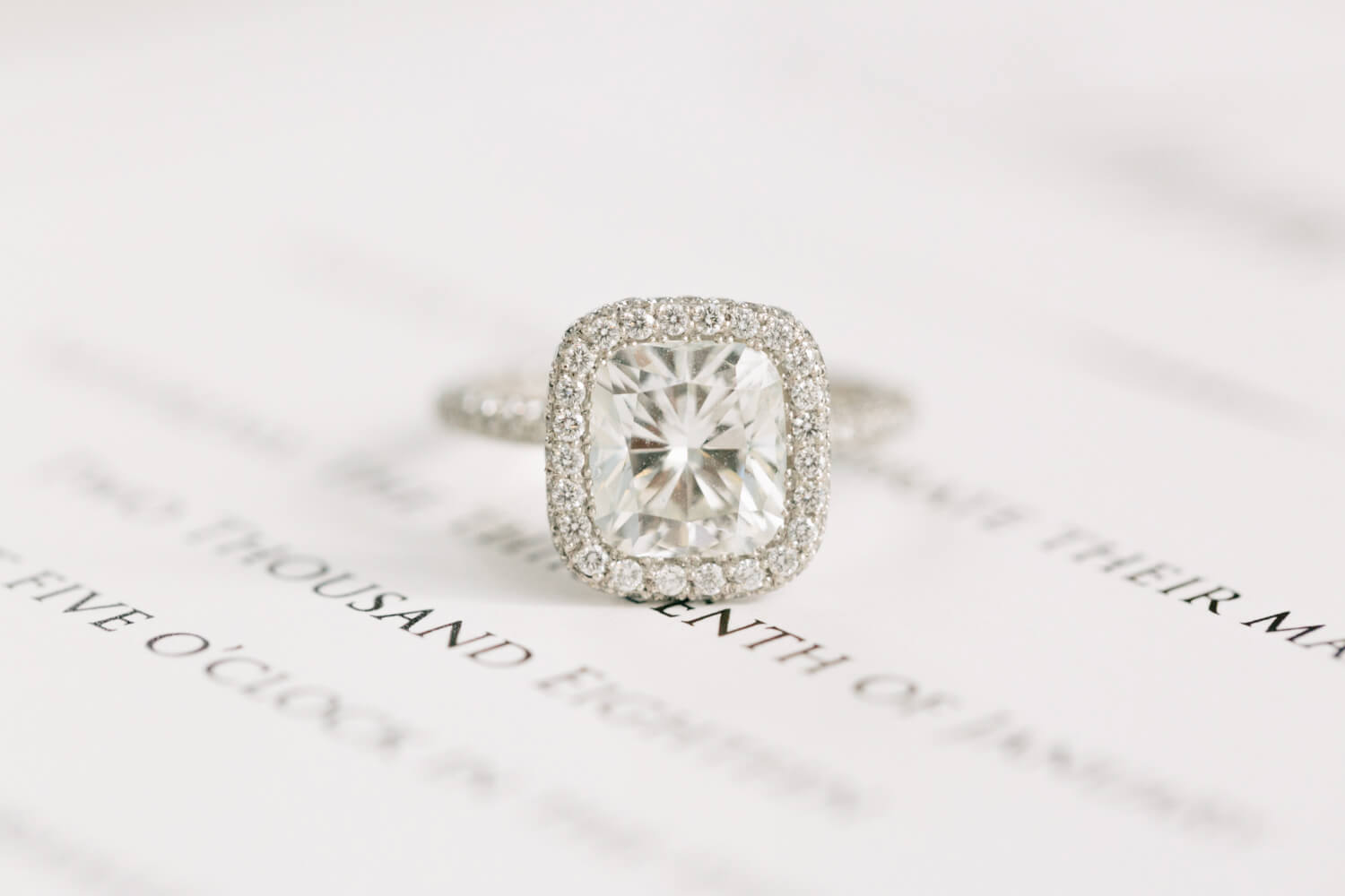 Silver ring with a solitary diamond